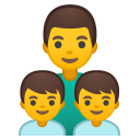 Family man boy boy icon