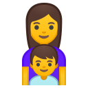 Family woman boy icon