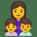 Family woman girl boy icon