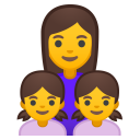 Family woman girl girl icon