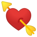 Heart with arrow icon