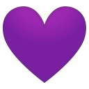 Purple heart icon