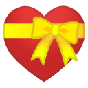 Heart with ribbon icon