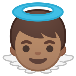 Baby angel medium skin tone icon