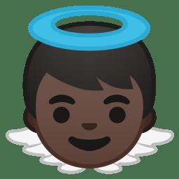 Baby angel dark skin tone icon