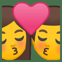 Kiss woman man icon