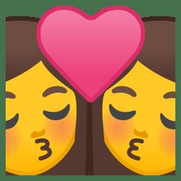 Kiss woman woman icon