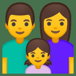 Family man woman girl icon