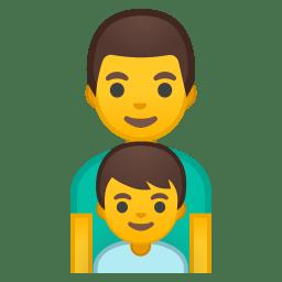 Family man boy icon