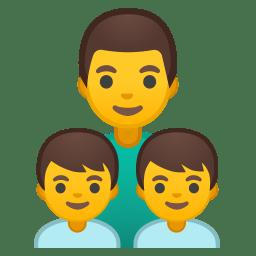 Family man boy boy icon