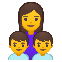 Family woman boy boy icon
