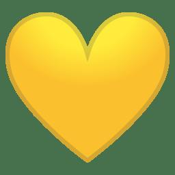 Yellow Heart Icon Noto Emoji People Family Love Iconset Google
