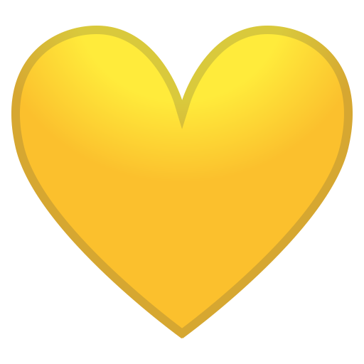 Yellow heart icon