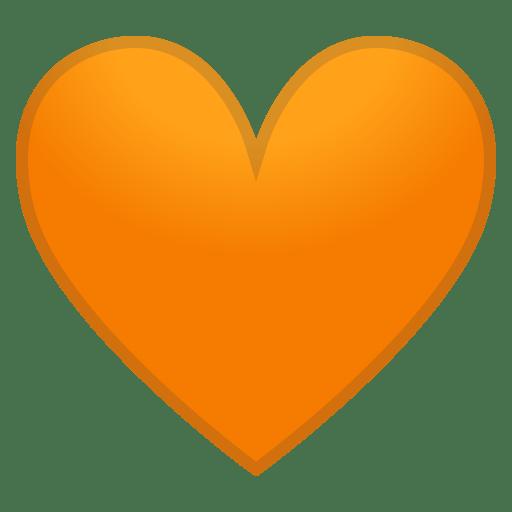12147-orange-heart icon