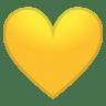 12146-yellow-heart icon