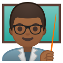 Man teacher medium dark skin tone icon