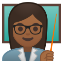 Woman teacher medium dark skin tone icon
