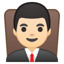 10233-man-judge-light-skin-tone icon