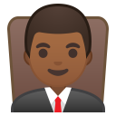 Man judge medium dark skin tone icon