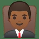 Man judge medium dark skin tone icon