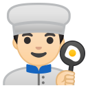 Man cook light skin tone icon