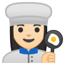Woman cook light skin tone icon