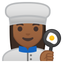 Woman cook medium dark skin tone icon