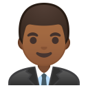 Man office worker medium dark skin tone icon