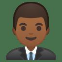Man office worker medium dark skin tone icon