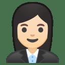 Woman office worker light skin tone icon