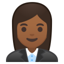 Woman office worker medium dark skin tone icon