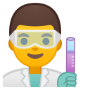 Man scientist icon
