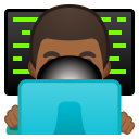 Man technologist medium dark skin tone icon