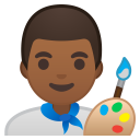 Man artist medium dark skin tone icon