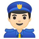 10419-man-police-officer-light-skin-tone icon