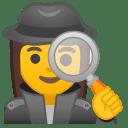 Woman detective icon