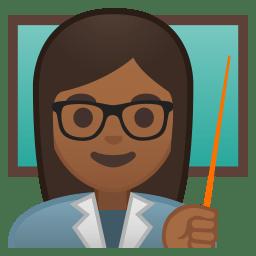 Woman teacher medium dark skin tone icon