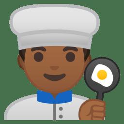 Man cook medium dark skin tone icon