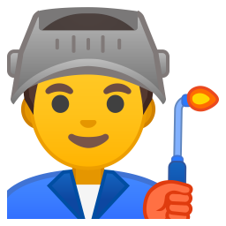 Man factory worker icon