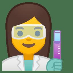 Woman scientist icon