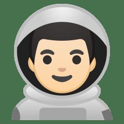 Man astronaut light skin tone icon