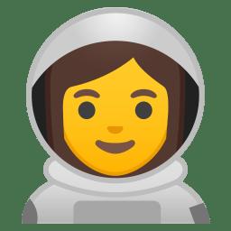 Woman astronaut icon