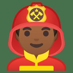 Man firefighter medium dark skin tone icon