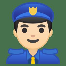 Man police officer light skin tone icon