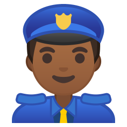 Man police officer medium dark skin tone icon