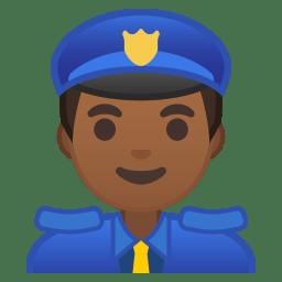 Man police officer medium dark skin tone icon