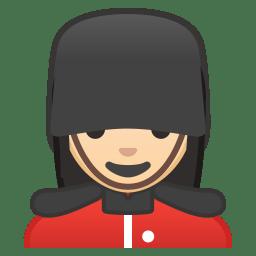 Woman guard light skin tone icon