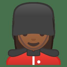 Woman guard medium dark skin tone icon