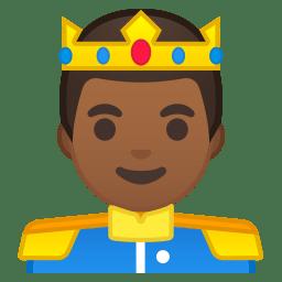 Prince medium dark skin tone icon