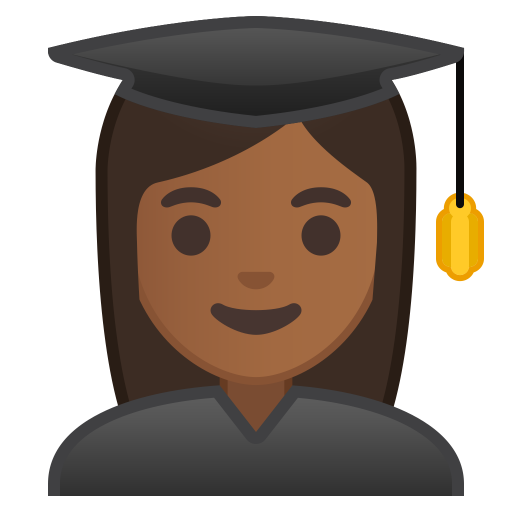 10216-woman-student-medium-dark-skin-tone icon